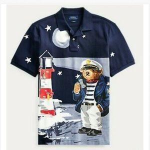 Polo Ralph Lauren Nautical Captain Bear Lighthouse